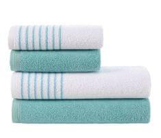Carbotex Sada froté ručníků a osušek Davos Tyrkysová
