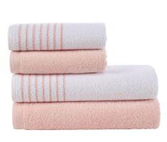 Carbotex Sada froté ručníků a osušek Davos Pudrová