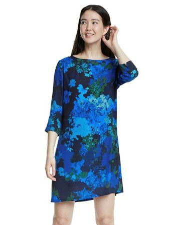 Desigual Sukienka damska Tennessee 20SWVW38 36 niebieska