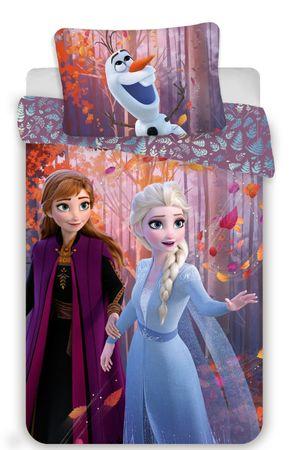 Jerry Fabrics Ledeno kraljestvo 2 sestri otroška posteljnina, vijolična