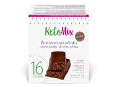 KetoMix KetoMix Proteinové tyčinky s příchutí čokolády 16 porcí