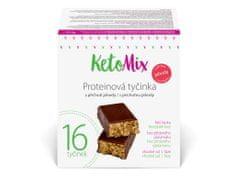 KetoMix KetoMix Proteinové tyčinky s příchutí jahody 16 porcí