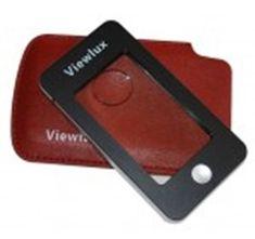 Viewlux Lupa s koženým púzdrom 2,5 × / 5 ×, s osvetlením