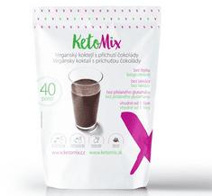 KetoMix KetoMix Veganský (bezlaktózový) koktejl s příchutí čokolády 40 porcí