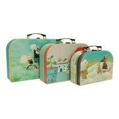 Santoro Kori Kumi sada 3 školních kufříků