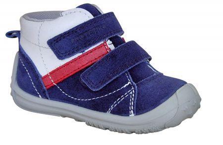 Protetika buty chłopięce całoroczne LEON navy 22 ciemnoniebieskie