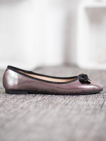 Női balerina cipő 61298, szürke és ezüst árnyalat, 36