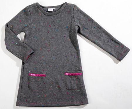 Topo dekliška obleka, siva, 92