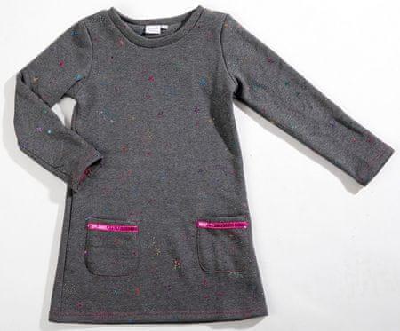 Topo lány ruha 104 szürke