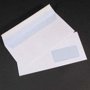 Office Line kuverta amerikanka z desnim oknom, A23, silikonska, bela, 100 kosov