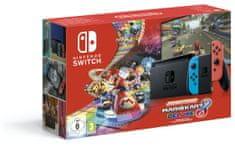 Nintendo Switch - Mario Kart 8 Deluxe Bundle 19 igraća konzola, crvena/plava