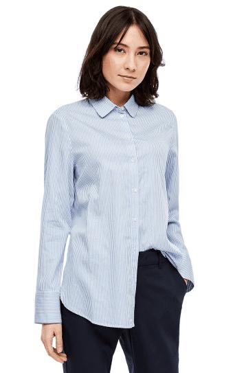 s.Oliver dámska košeľa 14.001.11.2836 36 modrá