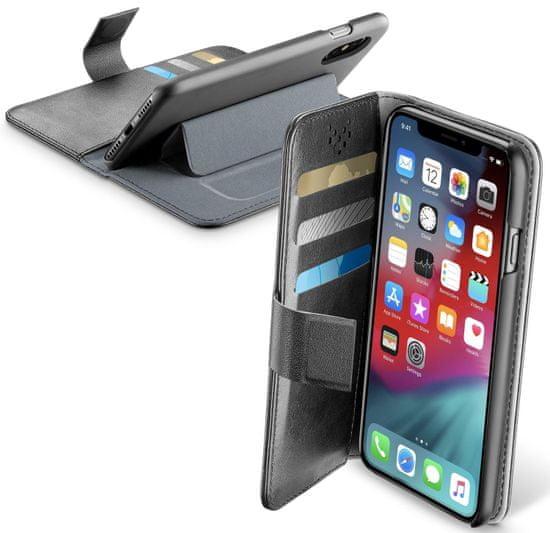 CellularLine Puzdro typu kniha Book Agenda pre Apple iPhone XS Max BOOKAGENDAIPHX65K, čierne