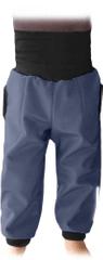 Jožánek Dětské SOFTSHELLové kalhoty s náplety a regulací pasu, antracit