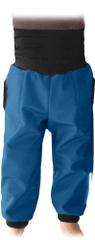 Jožánek Dětské SOFTSHELLové kalhoty s náplety a regulací pasu, petrolejová