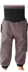 Jožánek Dětské SOFTSHELLové kalhoty s náplety a regulací pasu, béžová