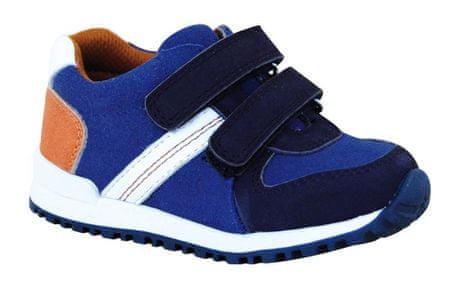 Protetika chlapčenská celoročná obuv DASTY brown 23 modrá