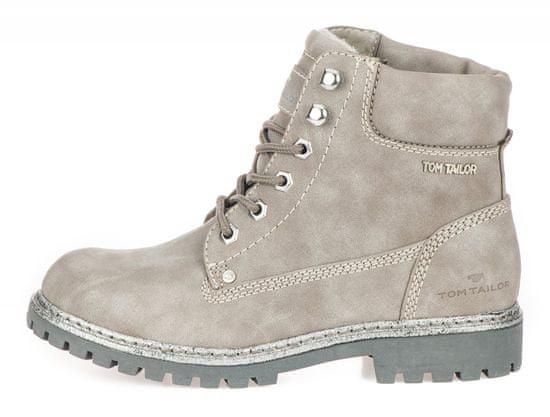 Tom Tailor dámska členková obuv 7990107 36 sivá