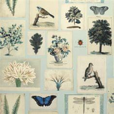 JOHN DERIAN Tapeta FLORA AND FAUNA CLOUD BLUE, kolekcia PICTURE BOOK PAPERS