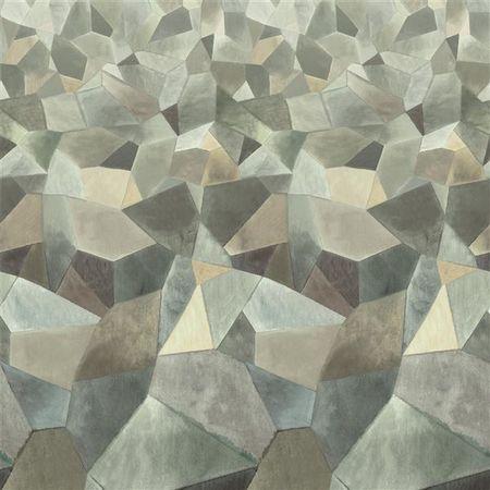 Designers Guild Ozadje GEO MODERNE PEWTER, kolekcija SCENE IN MURAL