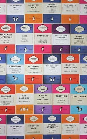 OSBORNE & LITTLE Ozadje PENGUIN LIBRARY 01 iz kolekcije PERSIAN GARDEN
