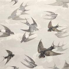 JOHN DERIAN Tapeta CHIMNEY Swallows SKY DUSK, kolekcia PICTURE BOOK PAPERS