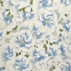 JOHN DERIAN Tapeta variegated AZALEA SWEDISH BLUE, kolekcia PICTURE BOOK PAPERS