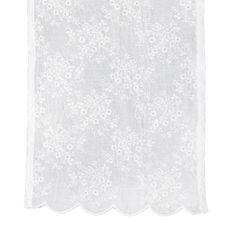 Lene Bjerre Vyšívaný běhoun na stůl CATIE bílý, 50 x 140 cm