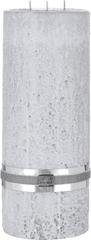Lene Bjerre Víceknotová svíčka se strukturou kamene STONE, světle šedá , velikost L, doba hoření 175 hodin