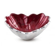 Julia Knight Romantična skleda v obliki srca, temno rdeča