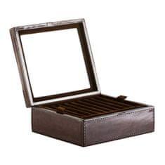 Balmuir Kožená krabička na prstienky a manžetové gombíky GREGOR, dark brown