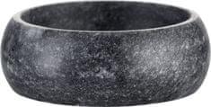 Lene Bjerre Malá oválná slánka z tmavě šedého mramoru