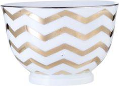 Lene Bjerre Porcelanasta skleda z zlatim motivom ADRIENNE
