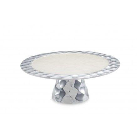 Julia Knight Originálne menšie tácka na podstavci na tortu DIAMOND, smotanovo biely