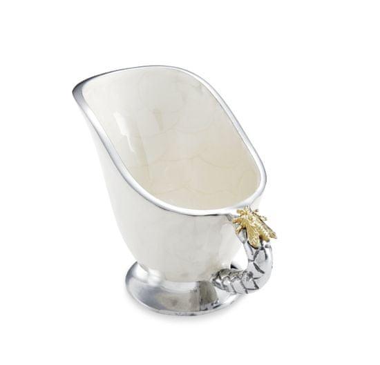 Julia Knight Elegantný omáčnik QUEEN BEE, smotanovo biely so zlatou včielkou