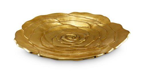 Julia Knight Zlatý servírovací tanier ROSE