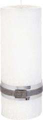 Lene Bjerre Dekorační svíčka se strukturou kamene, STONE, bílá, velikost L, doba hoření 75 hodin