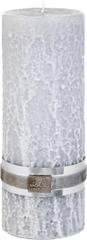 Lene Bjerre Dekoratív gyertya kő szerkezettel, Kő, világosszürke, L méret, égési idő 175 óra
