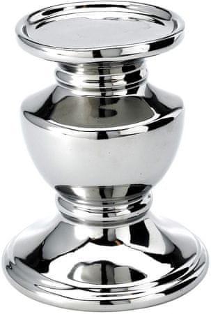 Lene Bjerre Srebrny świecznik do grubych świec PRETORIA wysokość 14 cm
