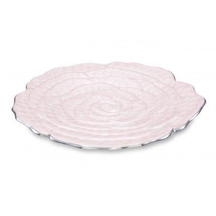 Julia Knight Servírovací tanier ROSE, svetlo ružový