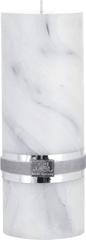 Lene Bjerre Sviečka s mramorovou štruktúrou MARBLE, šedá, veľkosť L, doba horenia 30 hodín