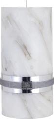 Lene Bjerre Sviečka s mramorovou štruktúrou MARBLE, béžová, veľkosť XL, doba horenia 45 hodín