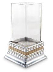 Julia Knight CLASSIC üveg alapú gyertyatartó, világosbarna