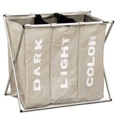 Látkový kôšna prádlo, sivobéžová, LAUNDRY TYP 3