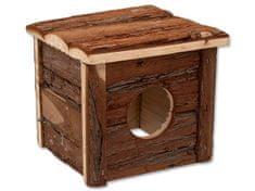 SMALL ANIMAL Domek dřevěný s kůrou 15,5 x 15,5 x 14 cm