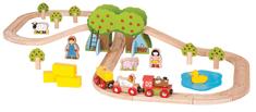 Bigjigs Rail Kolejka i farma, 44 elementów