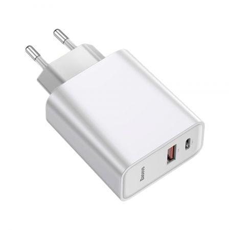 BASEUS Speed PPS polnilec + USB Type-C kabel, 1xUSB-A, 1xUSB-C Quick Charge 4.0