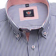 Willsoor Pánská slim fit košile London (výška 176-182) 6191 s modro-bílým proužkem a formulí 2 W Plus