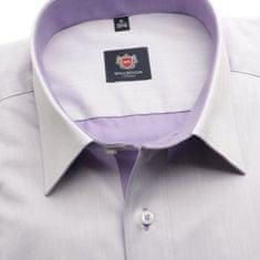 Willsoor Pánská klasická košile London (výška 176-182) 5955 ve fialkové barvě s formulí Easy Care