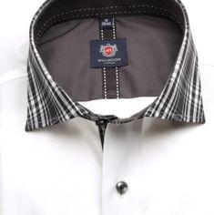 Willsoor Pánská klasická košile London (výška 188-194) 5945 v bílé barvě s formulí 2 W Plus
